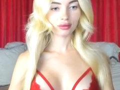 SexySweetMasha Red Outfit Pussy and Nip Slip in Freechat 10-06-2018