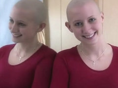 Swimming team girls shave their heads