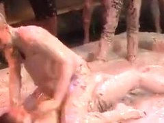 Party hotties in the mood for food fetish porn scenes
