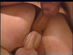 Kaitlyn Ashley being double screwed and double penetration'd hardcore