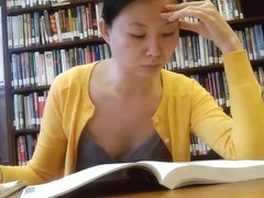 Candid Asian Library Girl Feet and Legs Part 1