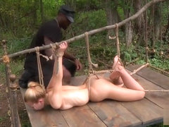 Alina West Blonde Interracial FrogTied Bondage FuckP1(More TeenPornMaster)