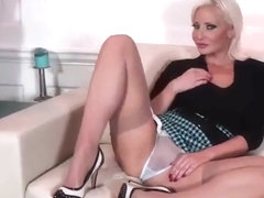 Jennifer hot milf in pantyhose and her fantas