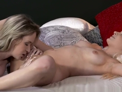 Lesbea Blonde angel licks, eats and devours young girls tight slit