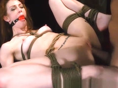 Tied Babe Alexa Nova Gets Roughly Banged By Big Rod