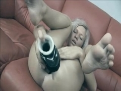 huge dildo expands the ass hole of the Estonian hot girl