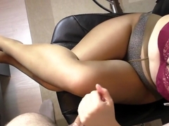 Amateur Teen Step Sis Hadnjob and Cum on Her Pantyhose
