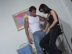 Tattooed Buck Nails A Tranny Bottom