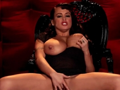 Brandy Talore spreads her pussy and masturbates