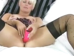 Blonde Cougar Dildo Masturbation