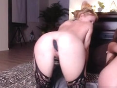 Drunk cam girls fingering dildo losing their shit