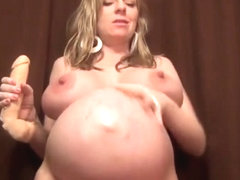 pregnant birgney brooks have fun with dildo HD (mother of love)