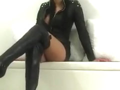 domina in leather