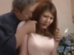 Old man binds his busty daughter in law and fucks her till she loves it