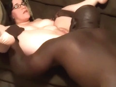 White BBW With Glasses BBC Blowjob