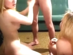 Two blonde twins handjob mate from college