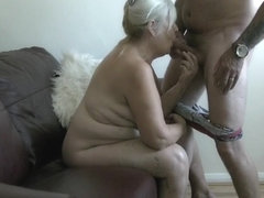 71 Year mature wife eating d...