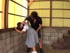 Awesome Japanese young slut Arisa got a huge mouth cumshot