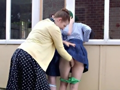 Hairy Schoolgirls Have Sex With Headmistress