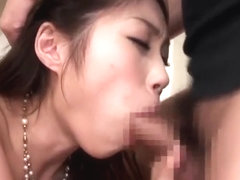 Seducing busty Japanese MILF Ai Shimatani performing in amazing creampie porn video