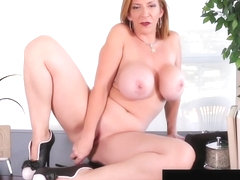 Naughty Office Milf Sara Jay Fucks Herself At Her Desk!