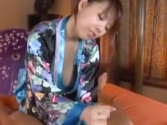 Exotic Japanese model Chika Kitano in Amazing Handjobs, Blowjob JAV movie