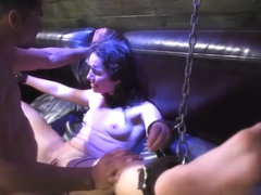 Inflatable Bdsm Helpless Teen Evelyn Has Been Walking For Aw
