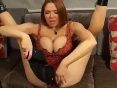 Hot girl shaking boobs