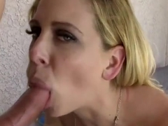 Cute buxomy Cherie Deville in ultra glam fetish fun