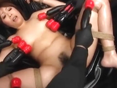 Japanese Submissive Sex Slave Tied In Rope And Fucked By FemDom And MaleDom
