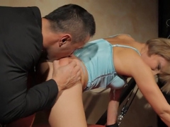 Tormented Babe Banged From Behind By Maledom