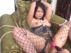 Exotic Japanese chick An Shinohara in Best BDSM, Fishnet JAV scene
