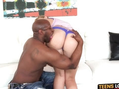 Thick teens wish comes true through interracial hammering