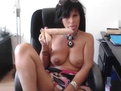 French Mature nymfo anal dildo squirt part.1