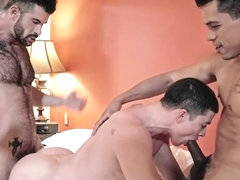 Tattoo gay double penetration and creampie
