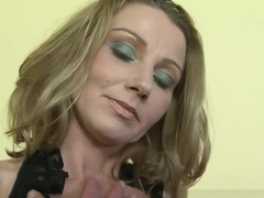 Blonde mature gets interracial anal and a facial