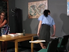 Schoolgirls In Cfnm Action
