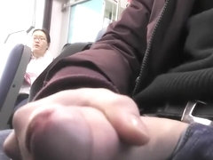 Exhibitionist wanked off his fat cock in front of a chubby Chinese student