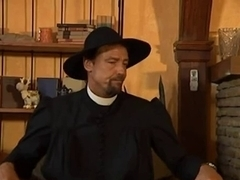 Sexy Nun Takes Priest Ramrod In Her Wazoo And Muff