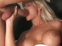 Beverly Cox gets stretched beyond belief with two cocks in her pussy