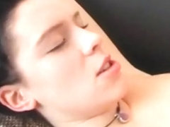 Hot Brunette Sucks and Fucks with Cumshot on Tits