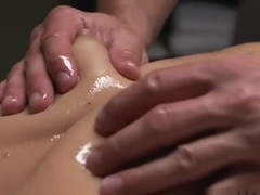 Tanned Oiled Teen Has Multiple Orgasms