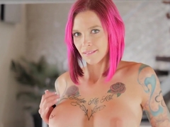 Big titted MILF Anna proves punk's not dead