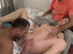 Teen pussy looks so good with a cock thrusting inside