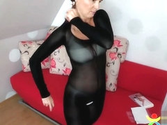 Zentai Catsuit with open crotch