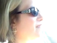 Sexy Suz . milf masturbating while driving her car