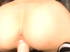 TIGHT Asian TEEN rides dildo and gets wet