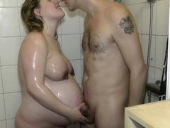 Weeks very horny preggo bath prego
