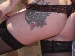 Young Courtesans - Kristina - Cum on my sexy tattoo!