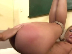 Restrained Teacher Pussyfucked By Maledom